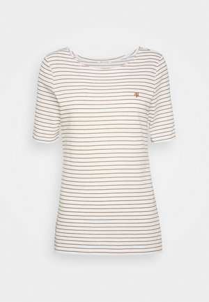 SHORT SLEEVE ROUND NECK - Print T-shirt - deep tobacco
