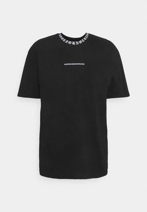 GOTHIC NECK TAPING - T-shirt med print - black
