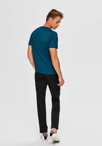 Selected Homme - T-shirt imprimé - teal - 2