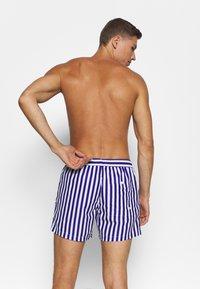 Topman - STRIPE SWIM - Swimming shorts - blue - 1