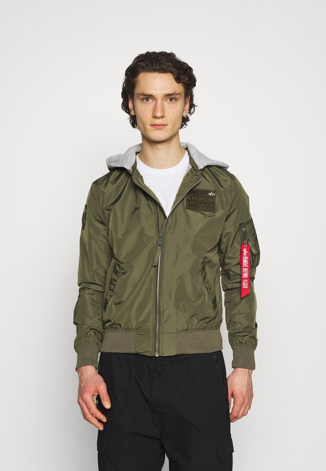 HOOD CUSTOM - Bomber Jacket - dark olive