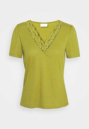 VIATHALINA V NECK  - T-shirt print - green olive