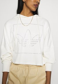 adidas Originals - CROP HOODIE - Hoodie - chalk white - 4