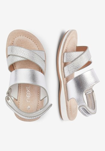SILVER CROSS STRAP SANDALS (YOUNGER)