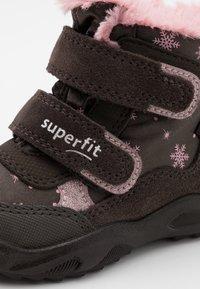 Superfit - GLACIER - Winter boots - braun/rosa - 5
