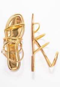 Pura Lopez - Sandals - mirror gold - 3