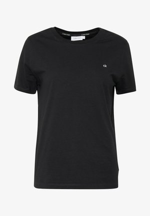 SMALL LOGO EMBROIDERED TEE - Basic T-shirt - black
