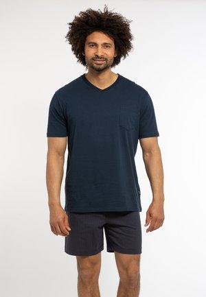 2 PIECE SET - Pyjama - blau / blau gemustert