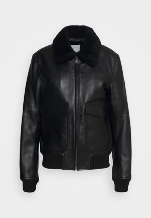 AVIATOR - Leather jacket - noir