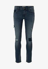 TOM TAILOR DENIM - PIERS - Slim fit jeans - destroyed mid stone blue denim - 5