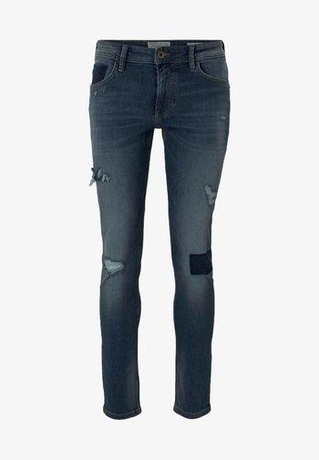 PIERS - Slim fit jeans - destroyed mid stone blue denim