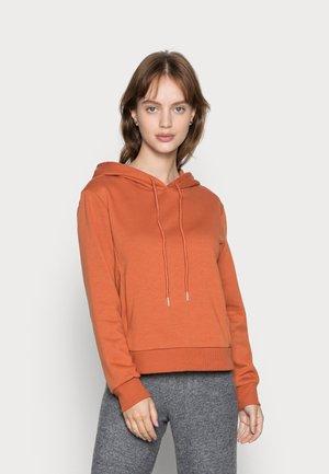 ONLINC JOEY EVERY SOLID HOODIE - Sweatshirt - bombay brown