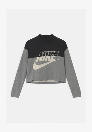 CROP CREW - Sweatshirt - black/carbon heather