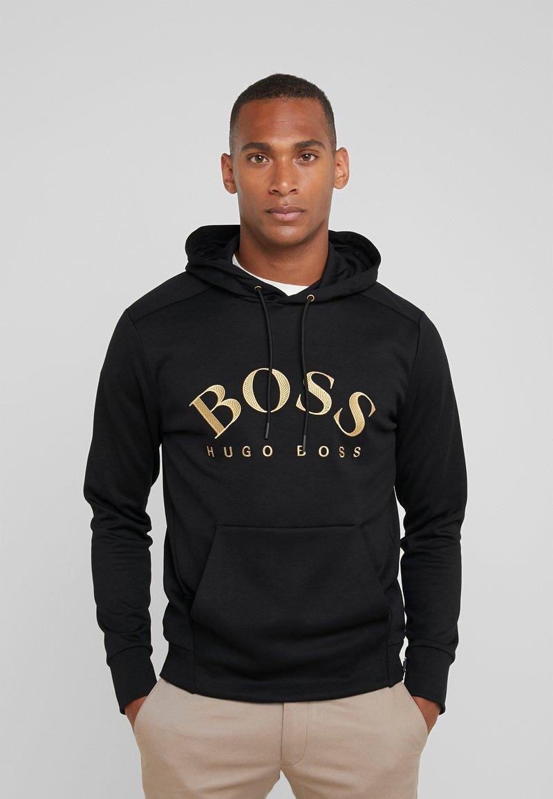 BOSS - SOODY - Luvtröja - black/gold