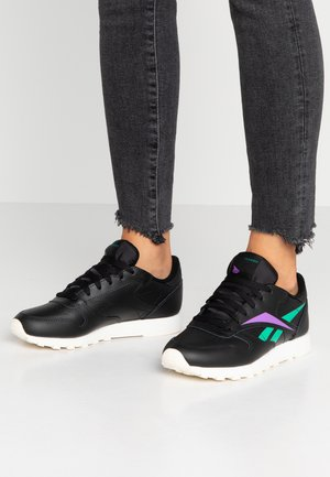 CLASSIC LEATHER CUSHIONING MIDSOLE SHOES - Sneakers - black/emerald/grape punch