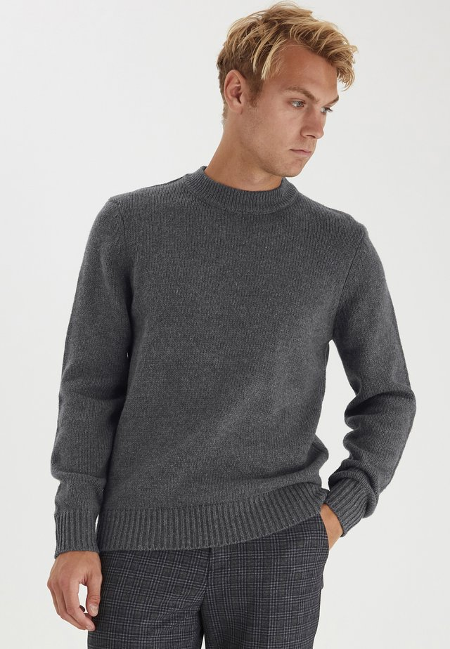 KARL 0014 CREW NECK - Pullover - smoked pearl melange
