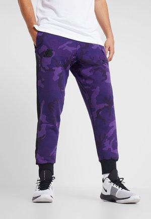 NBA LA LAKERS CAMO PANT - Tracksuit bottoms - field purple/black