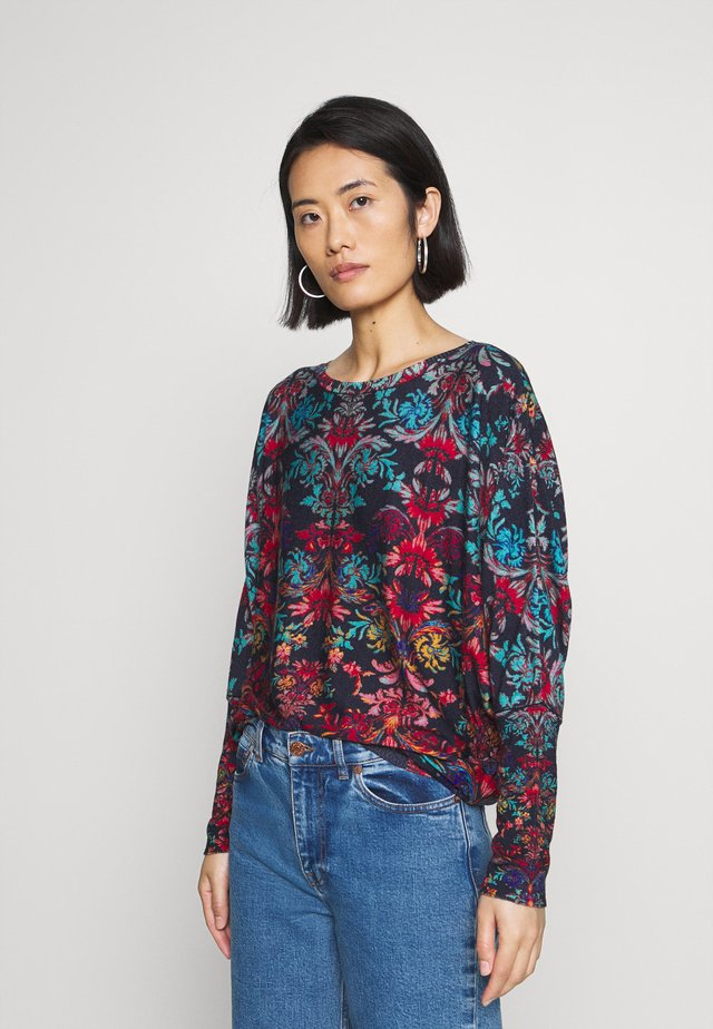 FLORAL - Jumper - navy