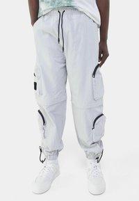 Bershka - Teplákové kalhoty - grey - 0