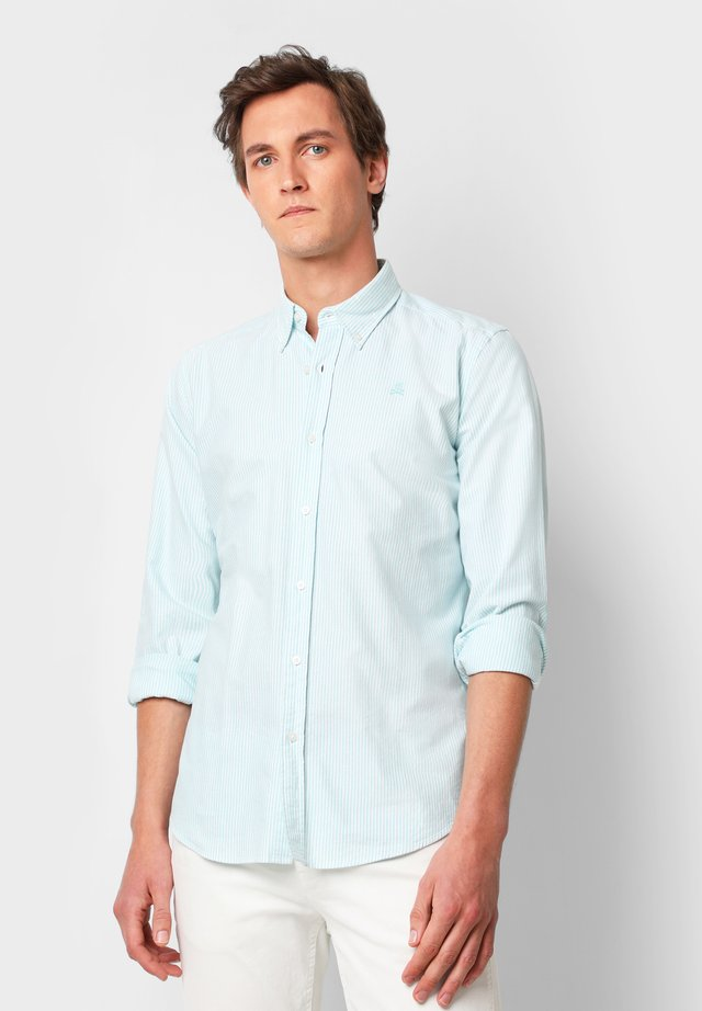 BASIC OXFORD SHIRT - Shirt - water stripes