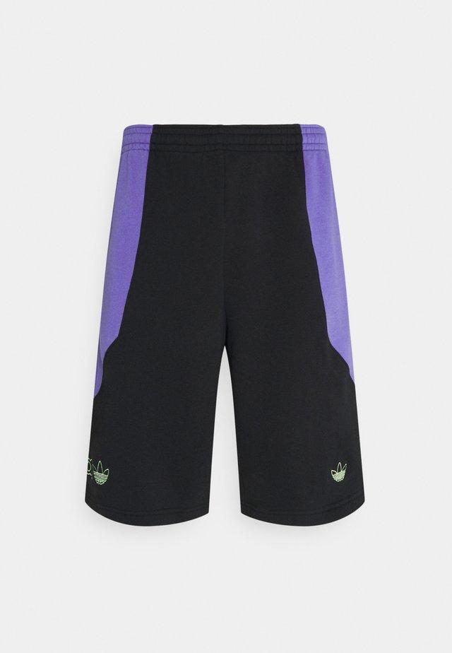UNISEX - Shorts - black/purple