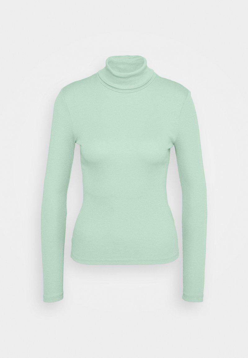 Pieces Petite - PCBIRDIE HIGH NECK - Long sleeved top - jadeite