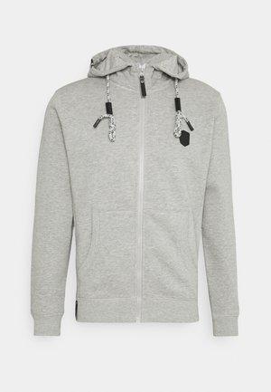 CAYCE - Hoodie met rits - light grey