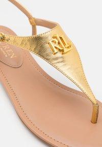 Lauren Ralph Lauren - METALLIC ELLINGTON - T-bar sandals - modern gold - 6