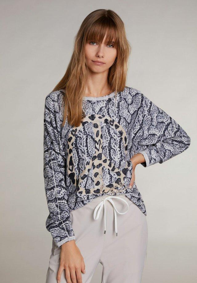 Pullover - light grey camel