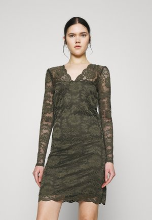 VIELLISA V NECK DRESS - Etuikjole - forest night