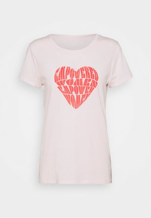 CREW - T-shirt con stampa - rose