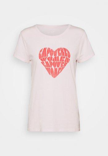 CREW - T-shirts med print - rose