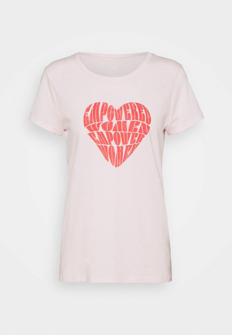 GAP - CREW - Print T-shirt - rose