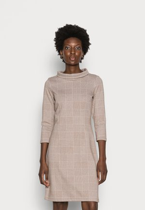 DRESS MOCK NECK - Jersey dress - offwhite beige