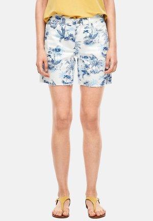 Denim shorts - cream aop