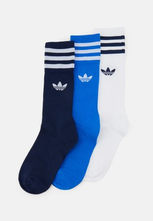 SOLID CREW UNISEX 3 PACK - Socks - blue/white