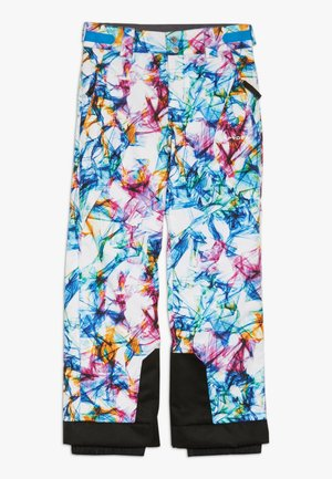 OLYMPIA - Snow pants - white/turquoise