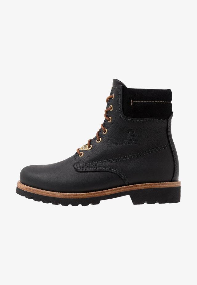 IGLOO - Šněrovací kotníkové boty - black