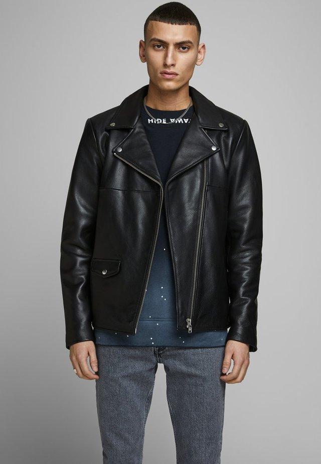HYPER - Veste en cuir - black