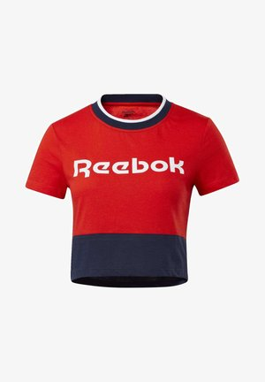 TRAINING ESSENTIALS LINEAR LOGO T-SHIRT - Printtipaita - red