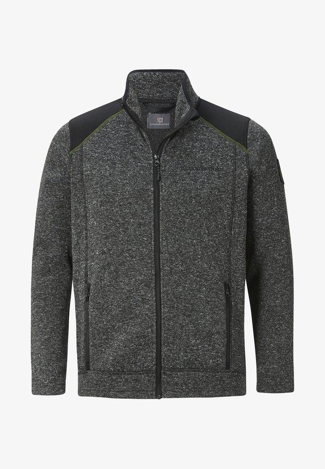 STRICKFLEECEJACKE YUL - Fleece jacket - grau gemustert