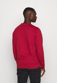 Tommy Jeans - TJM WASHED CORP LOGO CREW - Sweatshirt - wine red - 2