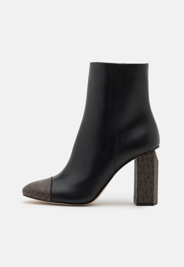 PETRA TOE CAP BOOTIE - Bottines à talons hauts - black/brown