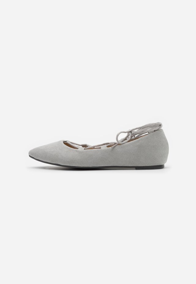 ANYTA - Ankle strap ballet pumps - grey