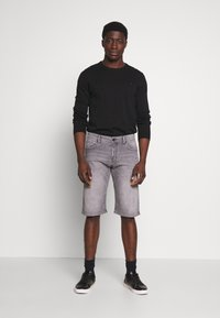 Esprit - Denim shorts - grey light wash - 1