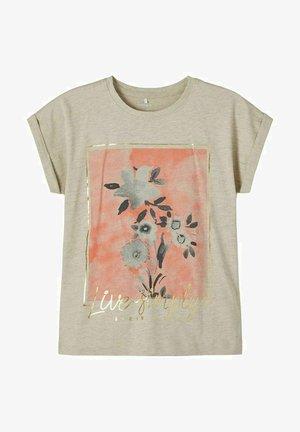 Print T-shirt - peyote melange