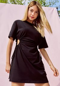 Bershka - Jerseykleid - black - 4