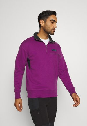 BUGA QUARTER ZIP - Sweater - plum/black
