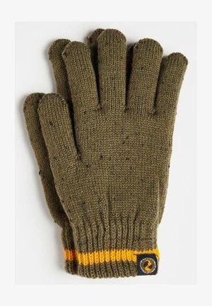 JONGENS RIBGEBREIDE - Gloves - army green
