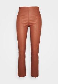 FLORENTINA - Pantaloni di pelle - brick